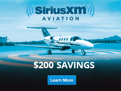 Sirius XM Aviation. $200 Savings – Learn More