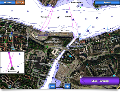 Garmin BlueChart Immagini satellitari