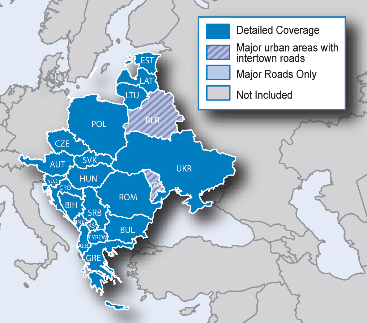 Map Of Europe West.Preloaded Maps En Gb Garmin United Kingdom