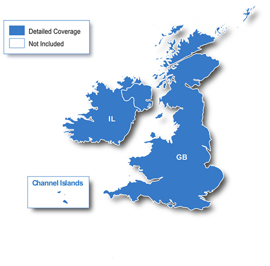 england regionen karte