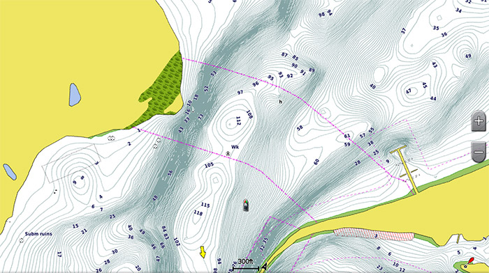 Fishing Contours Screen