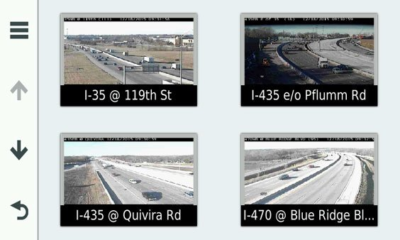 photoLive Traffic Cameras Screen