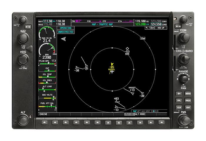 ADS-B para seu convés de voo integrado